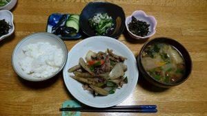 画像:夕食